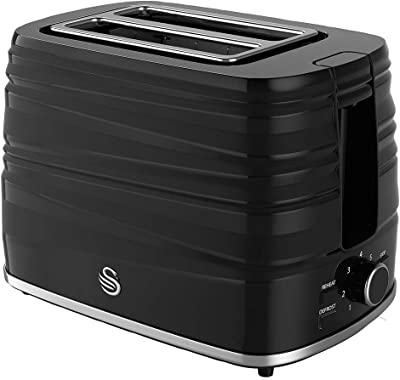 2 Slice Toaster Black, Appliance Type Toaster, Plug Type UK, Power Rating 930W, Product Range Swan - Symphony Range, Colour Black, Electrical Consumer Goods/Appliances