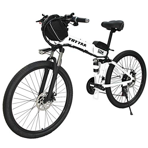 CLIENSY New 26' Electric Bike 500W Folding E-Bike with Removable 36V 10AH Lithium Battery, Electric...