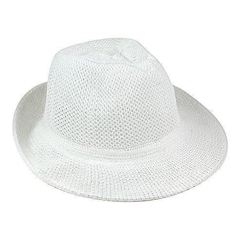 eBuyGB eBuyGB Unisex Sommer Strohhut, weiß, Einheitsgröße