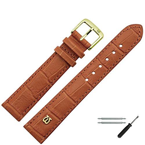 Marburger Lederwaren MARBURGER Uhrenarmband 20mm Leder Kroko - Made in Germany - Werkzeug Montage Set 52820