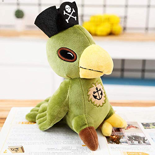 OmeDecor 25/35 / 45Cm Jack Doll Plush Stuffed Toy Parrot Plush Toy Pirate Skull Toy Children S Birthday Gift-45Cm_Green chongxiang
