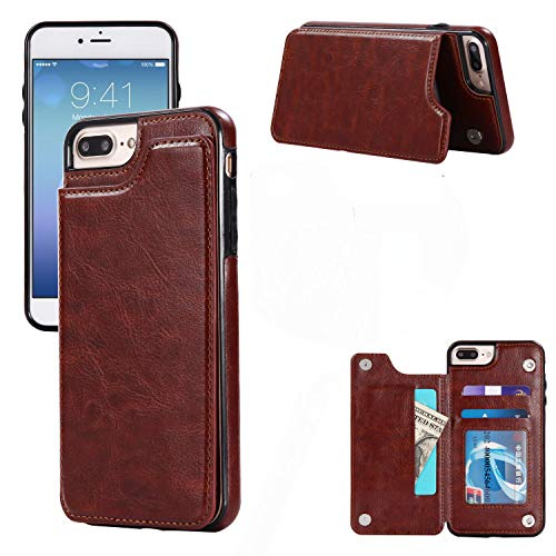 Sweau iPhone 5S/5/SE Funda de Piel con Tarjetero, Ultrafina Wallet Funda