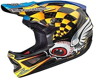 Troy Lee Designs Downhill BMX Full face Carbon Fiber D3 Helmet (Small, Yellow)
