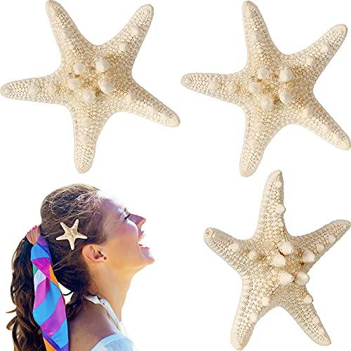 4 Pieces Starfish Hair Clip Mermaid Crown Mermaid Hair Accessories Mermaid Hair Clips Resin Sea Star Hairpins Pretty Beach Hairpin Hair Barrettes Mermaid Accessories for Women Girls