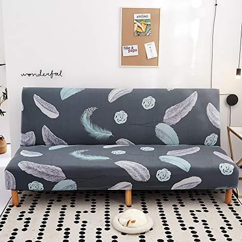 Mingfuxin Funda para sofá cama sin brazos, funda elástica de elastano, antideslizante, elástica, plegable, para sofá cama plegable de 2 a 3 plazas, sin reposabrazos (impreso #3108)