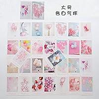 30 枚/セットクリエイティブカラフルな風船はがき/グリーティングカード/メッセージカード/誕生日の手紙封筒 ギフトカード