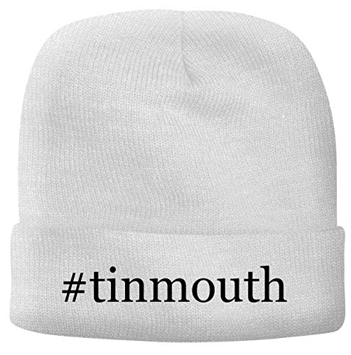 BH Cool Designs #Tinmouth - Men's Hashtag Soft & Comfortable Beanie Hat Cap, White, One Size