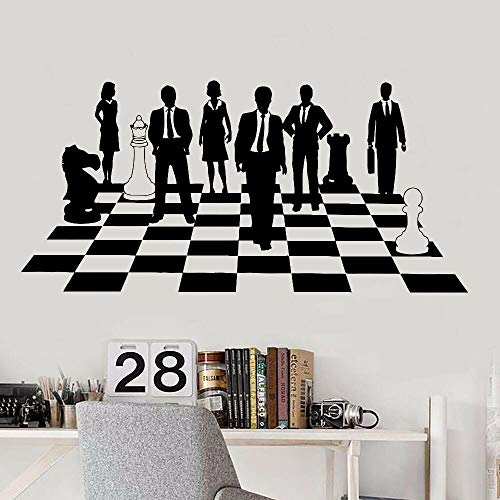 Schachspiel Wandaufkleber Business Anzug Arbeitsplatz Büro Teamwork Unternehmenskultur Innen kreative Dekoration Türen Fenster Vinyl Aufkleber Wandbild