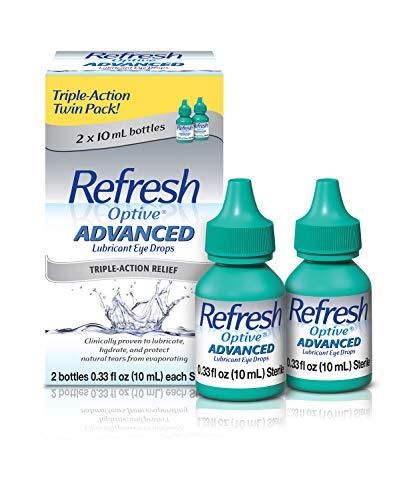 Refresh Optive Advanced Eye Drops, 0.33 Fl Oz (2 Count)