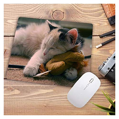 Mouse Pad Small Size Rubbe Mouse Pad Cute Cat Animal Mouse Mat Gaming Player Gamer Desktop Pad Computer Laptop Mousepad Games 22X18CM Computer Accessories (Color : 220X180X2MM3)