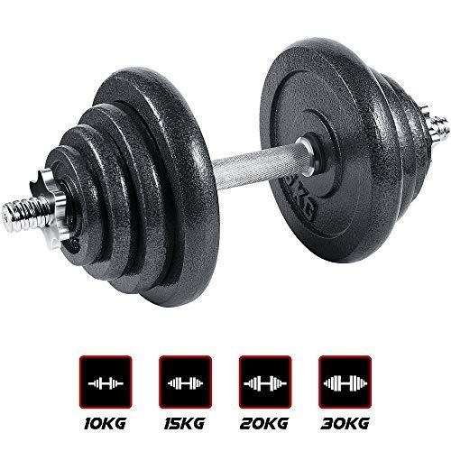 arteesol Set manubri, Manubri Manubri in Ghisa Set Manubri 10 kg 15 kg 20 kg 30 kg perPersone di Fitness Professionale (20kg)