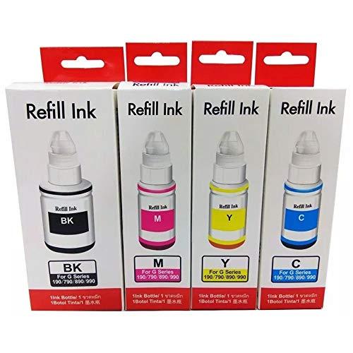 Kit Colorido de Tinta Compatível para impressora G1000 G2000 G3000 G1100 G2100 G3100 G3102 G1800 G2800 G3800 G1900 G2900 G3900
