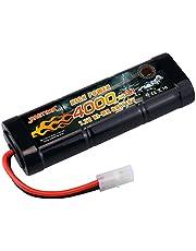 NASTIMA 7.2v ニッケル水素バッテリー 超大真の容量4000mAh ラジコン バッテリー 多種類のRCカー用 タミヤコネクター付き[CE,MSDS,UN38.3,RoHS 認証]