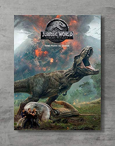 Jurassic Word Poster,Jurassic Movie Canvas Print Wall Art Posters Print,Standard Size 18x24 Inches