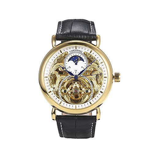 Festnight Forsining Hombres Moda Hueco Reloj clásico Encanto automático Reloj de Pulsera...