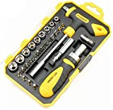 WSZYBAY 29pcs Destornillador Set Destornillador de trinquete bits Chrome Vanadium Precision Destornillador Socket Kit Herramientas de Mano