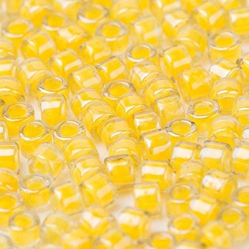Taidian DB2054 - Cuentas luminosas para manualidades (11/0 1/3/5 gramos, 1,6 x 1,3 mm)