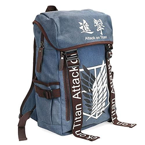 Rucksack mit Aufklärungstrupp Wappen für Attack on Titan Fans | Blau