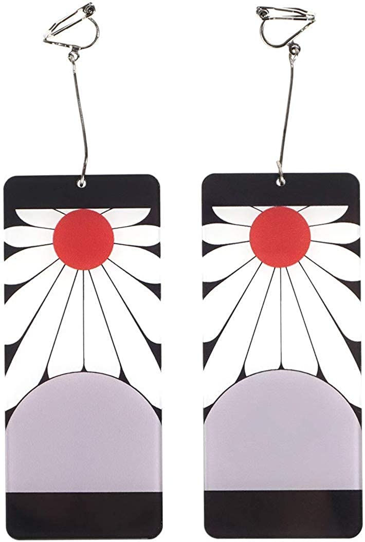 Earrings Anime Character Cosplay for Tanjiro Kamado Accessories 1 pair