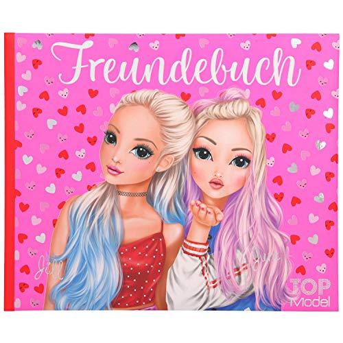 Depesche 11035 Freundebuch TOPModel, pink, ca. 17,5 x 21 x 1,5 cm