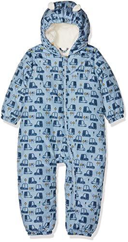 NAME IT Nbmmir Suit, Combinaison De Neige À Capuche Manches Longues Bébé garçon, Multicolore (Dusty Blue Dusty Blue), 62-68 (Taille fabricant: 2-6m)