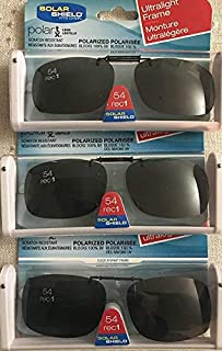 3 Solar Shield Clip-on Sunglasses Size 54 rec 1 Frameless Ultralight New