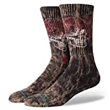 Stance Socks Savage Skull Socks in Black with Athletic Ribbed Terry Loop Arch Support/Seamless...