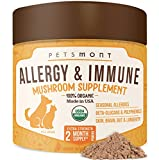 Petsmont Dog Allergy Relief - Itch Support Supplement Turkey Tail Mushroom Immune Anti Skin Hot...