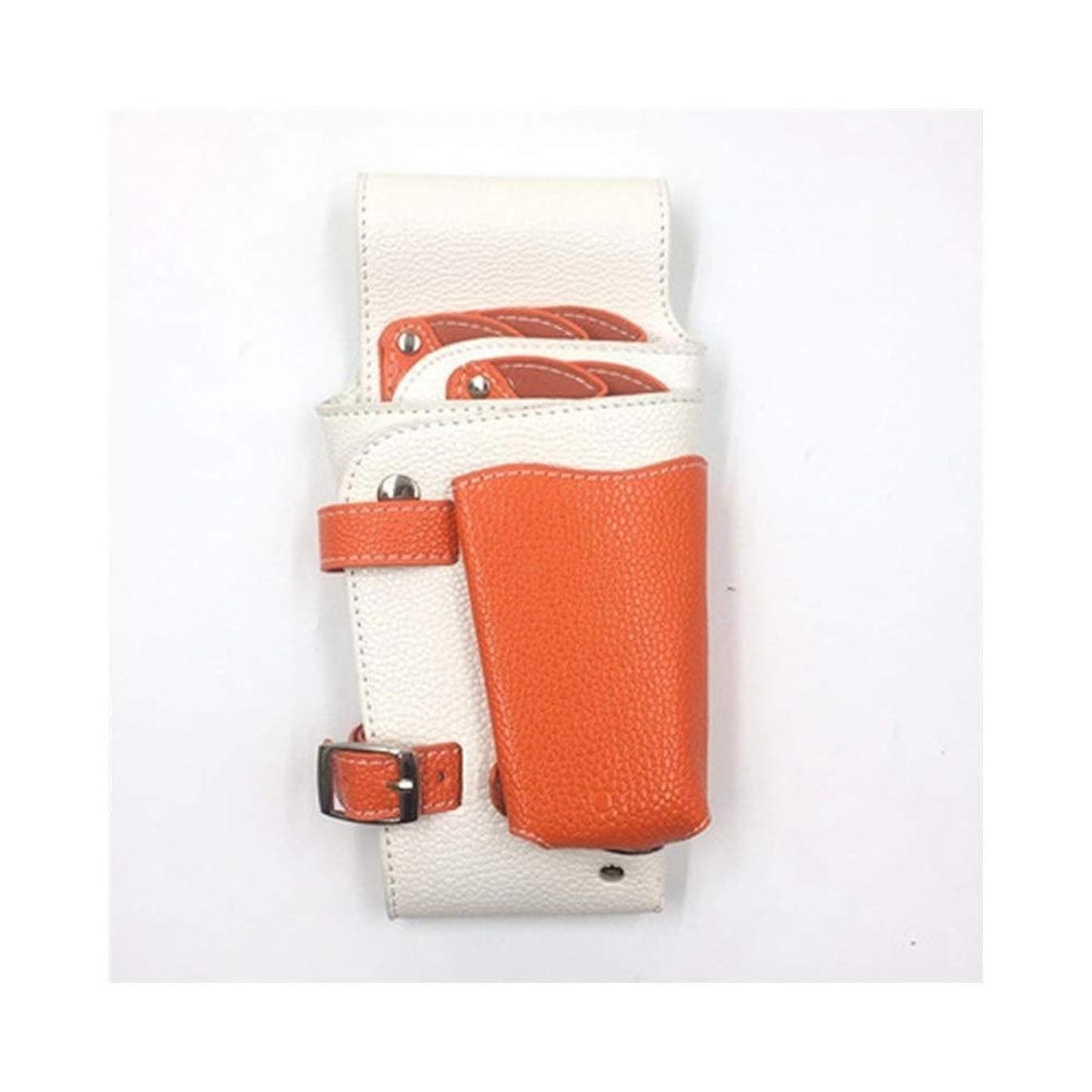 年金笑ステッチJPAKIOS 大広間の美容理髪の袋、ベルトが付いている毛のキットの付属品袋の理髪師のはさみのホルスター (色 : オレンジ)