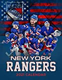 New York Rangers 2021 Calendar: Size 8.5x 11 inches
