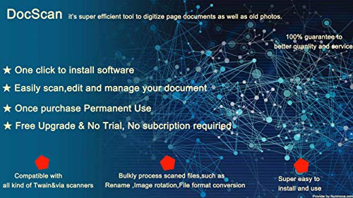 DocScan paper photo documents scanner software with built in quick scanning and image tool with bulk process