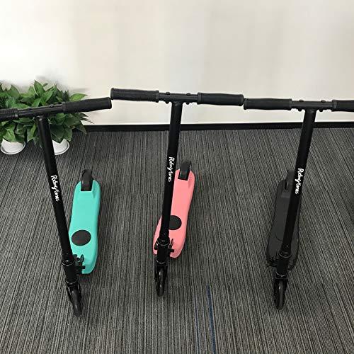 Rgogo Q2 - Patinete eléctrico para niños de 2 a 10 años de edad, altura ajustable, portátil, freno trasero, diseño de dos ruedas, regalo de cumpleaños o Navidad
