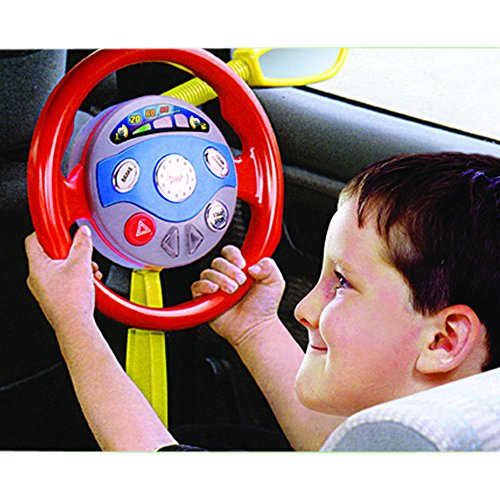 Electronic Backseat Driver Kids Play Steering Wheel Real Noises Creative Toys