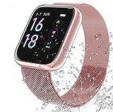 2020 Fitness Tracker Cardiofrequenzimetro, Tracker attività impermeabile IP68 Smart Watch e contapassi Tracker del sonno con 2 cinturini intercambiabili per uomo e donna FS-6