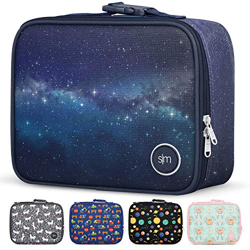 Simple Modern Kids Lunch Bag - Insulated Reusable Meal Container Box for Girls Boys Women Men Small Hadley Milky Way