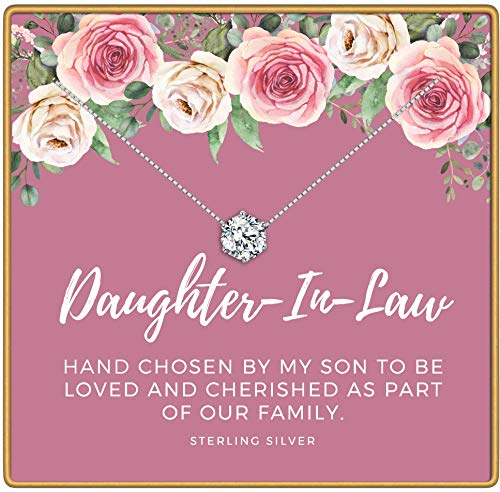 KEDRIAN Daughter In Law Necklace, 925 Sterling Silver, Daughter In Law Gifts, Mothers Day Gifts For Daughter In Law, Daughter In Law Gifts From Mother In Law, Best Daughter In Law Gift For Women