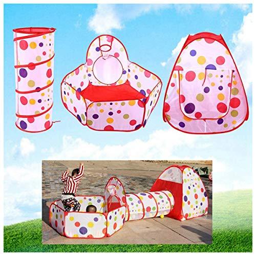 3-in-1 opvouwbare speeltent voor kinderen, geschikt voor gebruik binnen en buiten, tent, speeltunnel en ballenbad, geschikt voor baby's en kinderen