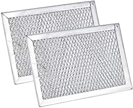WB06X10309 Filter Microwave Oven Grease Filter [ Packed In Box] Compatible with GE Microwave Filter Replacement Parts by AMI - 7-5/8 x 5 x 3/32 Inch 2 Packs