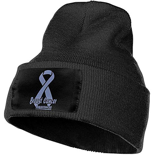 Elxf Hombres y Mujeres Bandera de concientización sobre el cáncer de esófago Sombrero de Gorros de Punto de Moda al Aire Libre Gorras de Punto de Invierno Suave