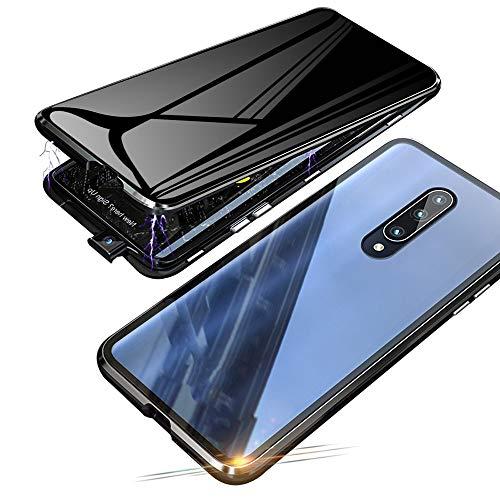 Jonwelsy Anti-Spy Funda para Xiaomi Mi 9T / 9T Pro, 360 Grados Proteccion Case, Privacidad Vidrio Templado Anti espía Cover, Adsorción Magnética Metal Bumper Cubierta para Xiaomi Mi 9T Pro (Ne