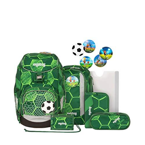 ergobag pack Set - ergonomischer Schulrucksack, Set 6-teilig - ElfmetBär - Grün