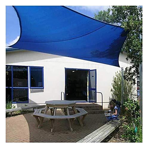 HXJM Rectángulo de la Cortina de Sun Sail Shade Impermeable Toldo de Vela Vela UV Bloquear Pantalla de Tela for el Aire Libre del Patio del jardín del Patio Trasero del césped 1028