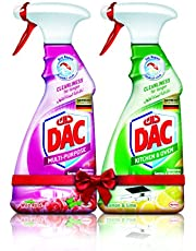 DAC Trigger Multi-Purpose Cleaner Spray - Rose (500ml) + Kitchen Cleaner Lime (500ml) - Pack of 2, for Germs and Bacteria Removal, with Dirt Repel Technology and Long-Lasting Cleanliness