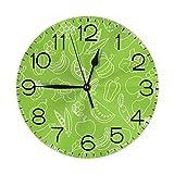 GOSMAO Reloj de Pared,Vegano, Reloj de Escritorio Decoración del hogar para Cocina Sala de Estar Dormitorio Oficina