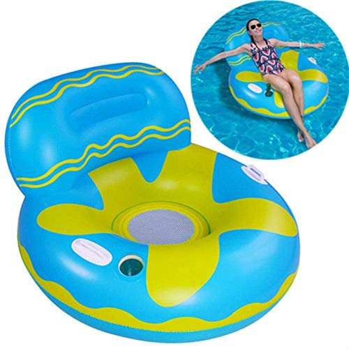 XMY Los flotadores de Piscina para Adultos con Copa Holder, Piscina Inflable Flotante Silla, Piscina Silla del ocioso, Fiesta del Agua Verano