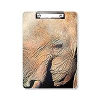陸生生物の象の野生動物 フラットヘッドフォルダーライティングパッドテストA4