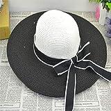 sdssup Sombrero de Paja con Arco Protector de Viaje de Vacaciones Protector...
