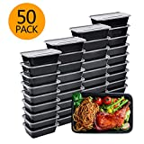 Meal Prep Containers, 50 Pack Bento Boxes Disposable Plastic Bento Insulated Lunch Box Reusable...