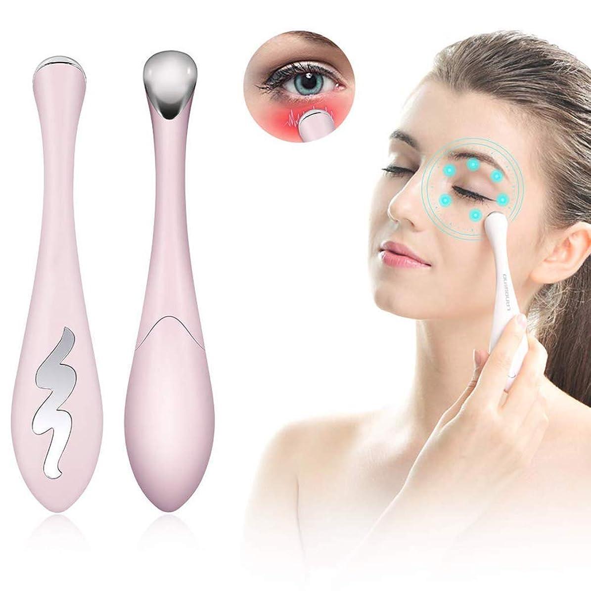 脆い毛皮指標目のマッサージ器 イオン目の顔マッサージ杖40℃加熱 暗い円リムーバー 排除アイバッグ & 腫れぼったい目引き締め肌細線暗い円を減らす
