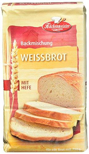 Küchenmeister Brotbackmischung Weissbrot, 15er Pack (15 x 500g)